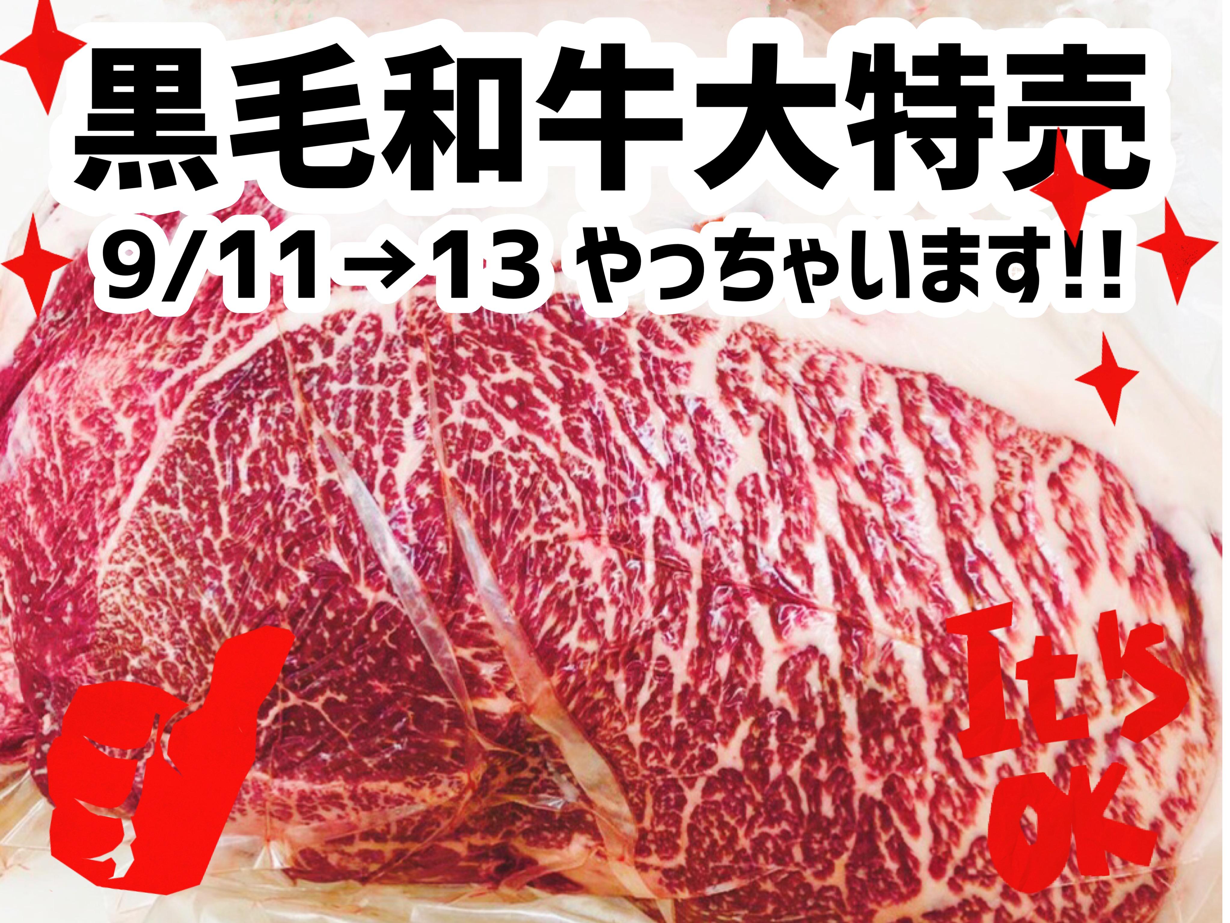 松阪牛&黒毛和牛セール開催中!